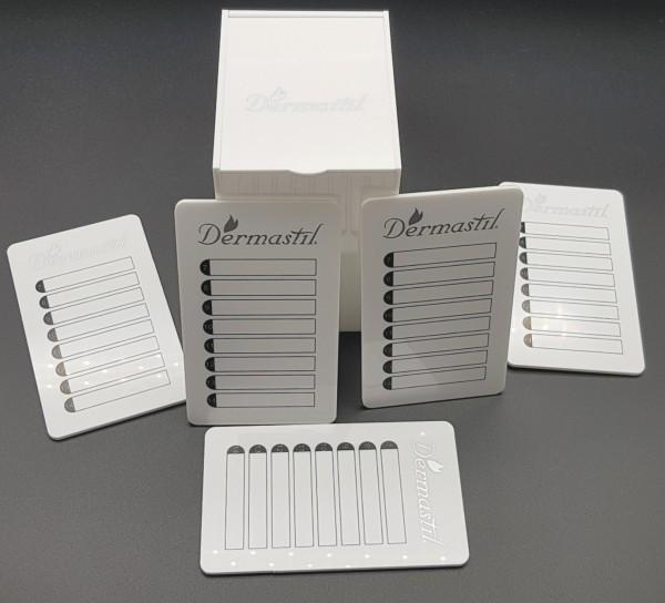 Lashbox-Storage Wimpernbox aus Acrylglass Weiß, inklusive 5 Platten, weisse Acrylplatten- Silber