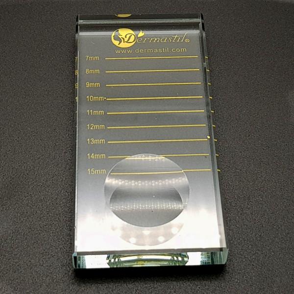 Rechteckige Kristallplatte für Wimpernstreifen und Wimpernkleber- Gold