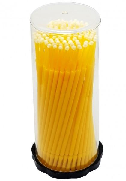 Micro Applikator Microfaser Reinigungsstäbchen- Gelb 2 mm