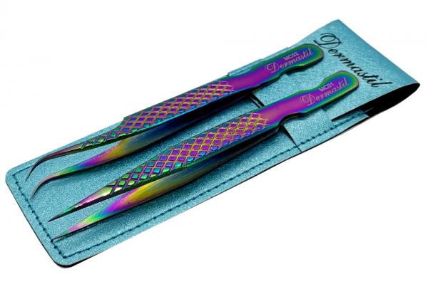 Edelstahl Präzisions- Multicolor Pinzetten Set 01