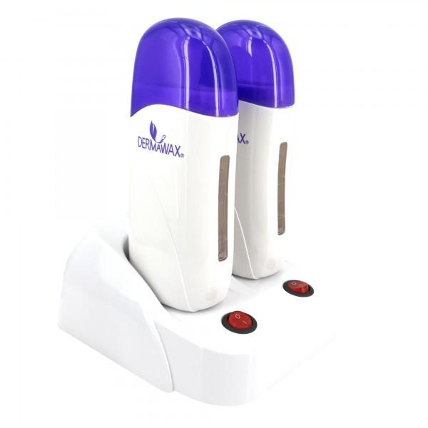 Doppel Wachserwärmer für 100 ml. Wachspatronen Farbe: Weiß- Blau