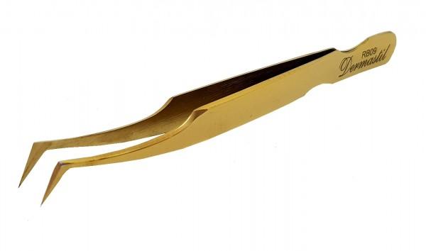Dermastil lash extensions gold Pinzette russian volume wimpernverlängerung