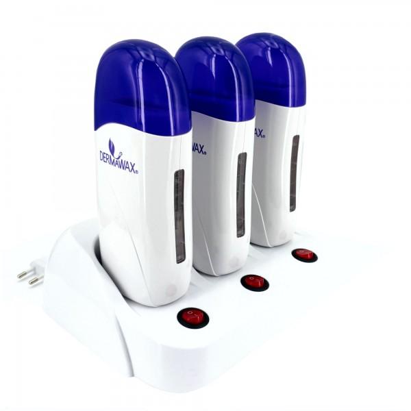 Trio Wachserwärmer für 100 ml. Wachspatronen Farbe: Weiß- Blau